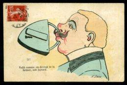 CPA De 1908 - Voilà Comme On Devrait Te La Fermer, Sale Bavard. Xavier SAGER - Sager, Xavier