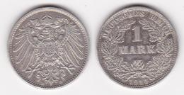 ALLEMAGNE : 1 MARK 1914 D Argent (voir Scan) - 1 Mark