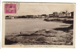 CPSM PONTAILLAC (Charente Maritime) - La Plage Vue Des Rochers - France