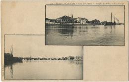 150 Ningpo Cathedrale Et Pont De Bateaux  Cliché R. Tillot Undivided Back - Chine