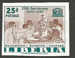 LIBERIA  U.N.E.S.C.O N� 374 NON DENTELE  NEUF** LUXE SANS CHARNIERE / MNH