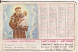 30-Calendarietto Orfanotrofio Antoniano Di Messina-Sant' Antonio 1961-usato - Calendari