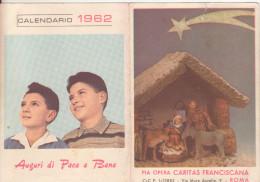 32-Calendarietto Pia Opera Caritas Francescana 1962-Religione: Natività-Presepe - Calendari