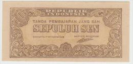 Indonesia 10 Sen 1945 Pick 15 UNC - Indonésie