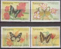 Tanzania. 2005. Butterflies. 4v. Michel .4321-4. MNH 20592 - Papillons