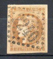 FRANCE - 1870-71 - Emission De Bordeaux - N° 43Aa - 10 C. Brun Clair (Report 1) (Oblitération : Losange G.C.)