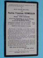 DP Paulina VERMEULEN ( Aloys Van GHEEM ) Temsche 9 Nov 1853 - 26 Oct 1917 ( Zie Foto´s Voor Detail ) ! - Religione & Esoterismo