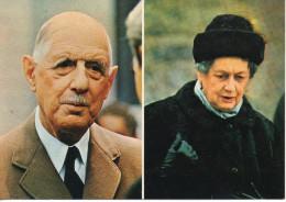 CP - PHOTO - LE GENERAL DE GAULLE ET MADAME DE GAULLE - COLOMBEY LES DEUX EGLISES - 073 - SLADE - J. ANDANSON - SYGMA - Hombres Políticos Y Militares