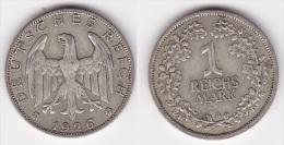 ALLEMAGNE : 1 MARK 1926 A Argent (voir Scan) - [ 3] 1918-1933 : Weimar Republic