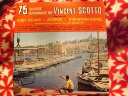 """2Albums 33t/12\"""".DELAIR - ANDREX - BOREL.  75 Succès De Vincent Scotto. - Vinyles"""