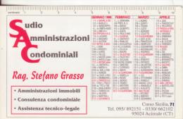 40-Calendarietto Studio Amministrazioni Condominiali-Acireale-Catania- 1999-Plastificato- Ottima Conservazione - Calendari