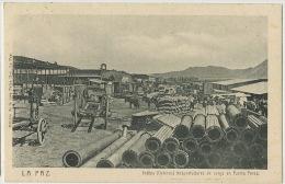 La Paz Indios ( Fleteros ) Trasportadores De Carga En Puerto Perez Editor Palza Hos. - Bolivia