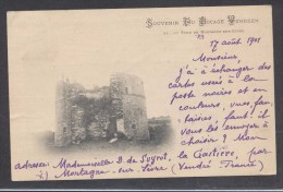9192-SOUVENIR DU BOCAGE VENDEN - TOUR DE MONTAGNE-SUR-SEVRE-1901-FP - Mortagne Sur Sevre