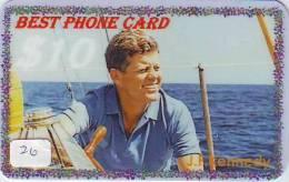 President KENNEDY Sur Prepaidcarte (26) John F. Kennedy President USA - Characters