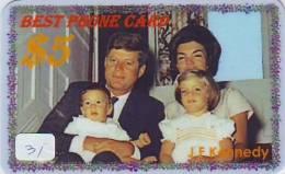 President KENNEDY Sur Prepaidcarte (31) John F. Kennedy President USA - Personen