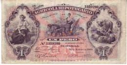 Early GUATEMALA  1 Pesos Banknote  PS101a    25.3.1900 - Guatemala