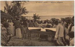 O Ultimo Adeus Enterro Indigena Fetichism Funeral  Used 1921 Loanda To Romania  Edit Esteves Reis - Angola