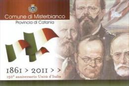 Misterbianco, Catania, Marcofilia, Annullo Postale, 150 Anni Unità D'Italia - Catania