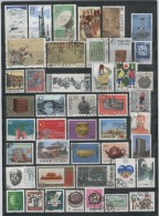 Cina -Selection Of Stamps In Three Pages  - Selezione Di Francobolli Usati In Tre Pagine D'album - Cina