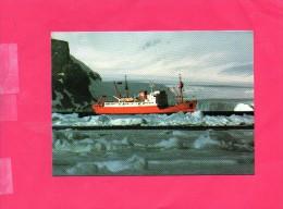 Carte Vierge  (( Bateau British Antarctic Survey Dans Les Glaces )) - Territoire Antarctique Britannique  (BAT)