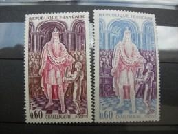 1497 Neuf  Variété Couleur Bleu Au Lieu De Violet - Varietà E Curiosità