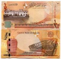 Bahrein Billet De 1/2 Dinar Pick 25 Neuf 1er Choix UNC - Bahreïn