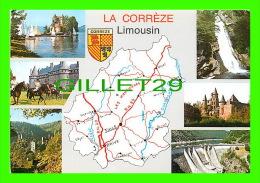CARTES GÉOGRAPHIQUES - LA CORRÈZE (19), LIMOUSIN - 7 MULTIVUES - EDITION DE LUXE - PHOTO, EDITIONS BOS - - Cartes Géographiques