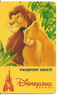 PASS--DISNEY-DISNEYLAND PARIS-1996-ROI LION ADULTE-Non Souligné-V°S019608-en Haut A Droite-TBE-RARE - Pasaportes Disney