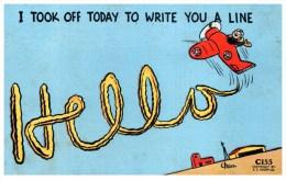 16550 I Took Off To Write You A Line Hello Sky Writing Signed C.Paris - Humour