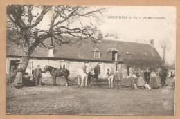 BOSCHYONS (S.I.) -- Ferme Normande - BOSC-HYONS - CHEVAUX - CHEVAL - FERME - TRES ANIMEE - Frankreich