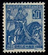 FRANCE 1929 - Yv. 257 *   Cote= 2,30 EUR - Jeanne D'Arc (I) ..Réf.FRA26709 - Ungebraucht