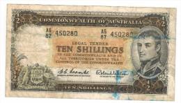 Australia 10 Shill. Used, RARE,  FREE SHIP. TO USA - Australia