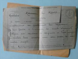 TELEGRAMME Adressé Au Maire De SANCEY LE GRAND En 1961, Et Relatifs Aux évènements D´Algérie - Marcophilie (Lettres)