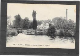 CPA Saint Mars La Brière Bords De L'huisne. Papeterie - Autres Communes