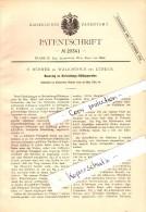 Original Patent - F. Hübner In Walkmühle B. Lübeck , 1884 , Kühlapparat Für Brauerei , Bier , Lück !!! - Luebeck