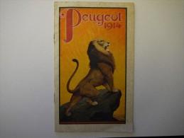 Catalogue Peugeot 1914 Vélo Cycle Bicyclette Motocyclette Beaulieu (Doubs) - Vieux Papiers