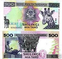TANZANIA 500 SHILINGI 1997 UNCIRCULATED P-30 - Tanzanie