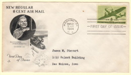 US SC #C26 FDC  1944 8c Transport Plane (03-21-1944), CV $4.00 - First Day Covers (FDCs)