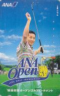 Télécarte Japon / 110-011 - AVIATION & SPORT - ANA GOLF TOURNAMENT - Japan Phonecard / PIC WOODPECKER BIRD  - Avion 820 - Avions