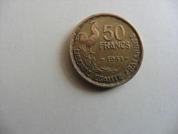 France  :  50  Francs Coq  1951 - France