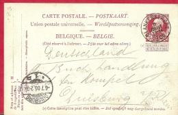 LD-047     GROVE BAARD   BLANKENBERGHE  1906        Naar   DUISBURG - Stamped Stationery