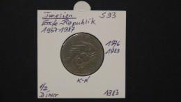 Tunisia - 1983 - 1/2 Dinar (F.A.O.) - KM 303 - VF - Look Scan - Tunesien