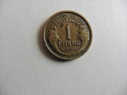 France  : 1  Franc 1931 - France