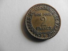 France  : 2 Francs  1922  Chambre de commerce