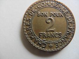 France  : 2 Francs  1925  Chambre De Commerce - France