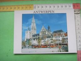 262 )   Antwerpen : Place Verte Et   Cathedrale Notre Dame  : Recto Verso  : Tramway - Antwerpen