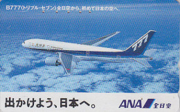 Télécarte Japon / 110-011 - AVIATION - ANA - AVION - BOEING - Japan Airlines Phonecard Telefonkarte - Tarjeta Tel. - 839 - Vliegtuigen