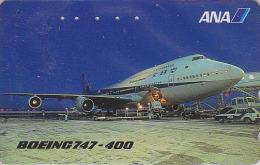 Télécarte Japon / 110-016 - AVIATION - ANA - AVION - BOEING 747 - Japan Airlines Phonecard Telefonkarte - 839 - Avions