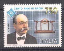 ITALIA 1994 AUGUSTO RIGHI SASS. 2093 MNH XF - 6. 1946-.. Repubblica