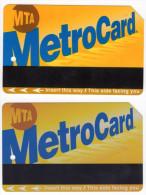 LOT DE 2 TICKETS DE METROCARD AIR TRAIN JFK NEW YORK ETATS UNIS - Billets D'embarquement D'avion